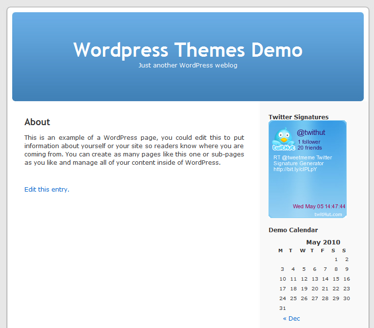 Wordpress Front Page Display
