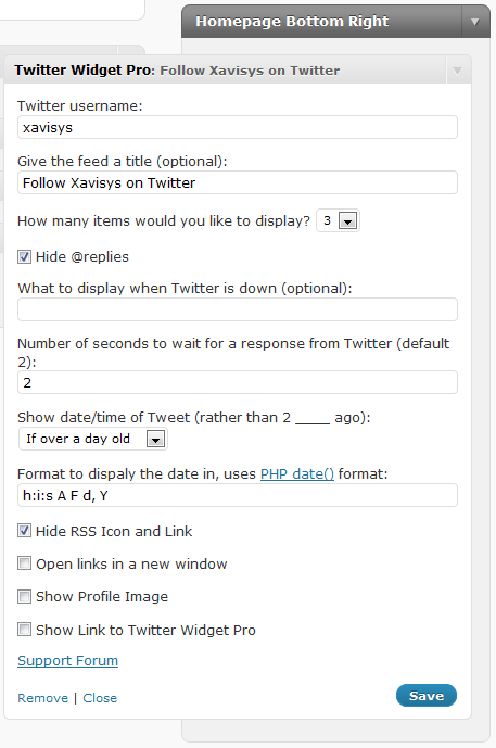 twitter-widget-pro screenshot 2