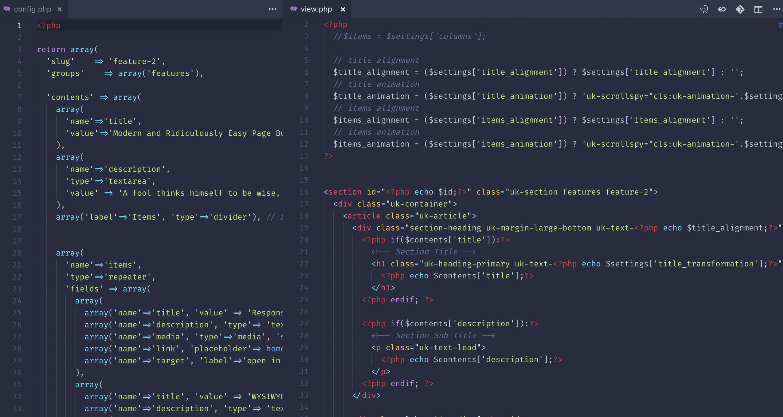 Developer friendly codebase