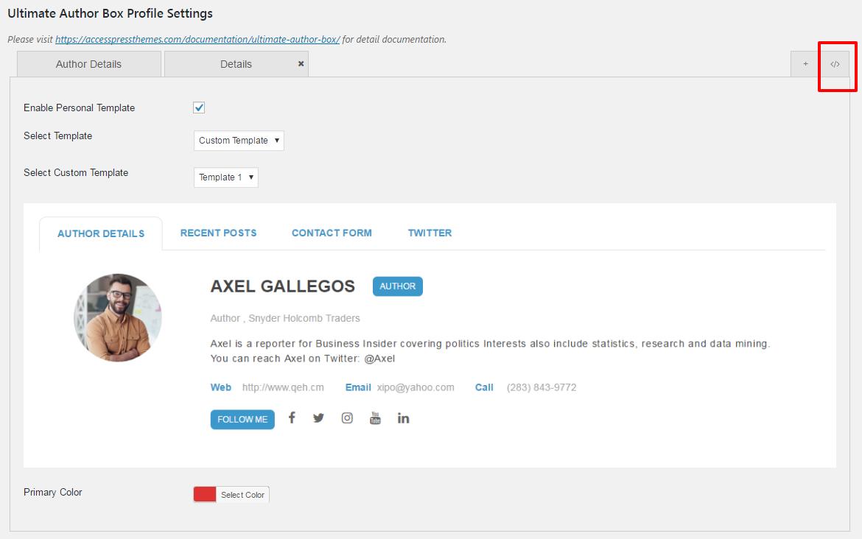 Custom Profile Settings