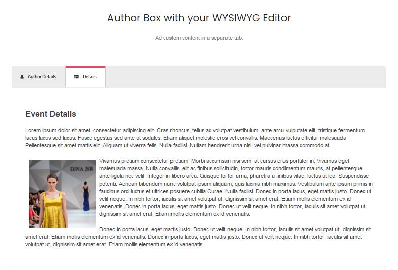 Template 4 with WYSIWYG editor