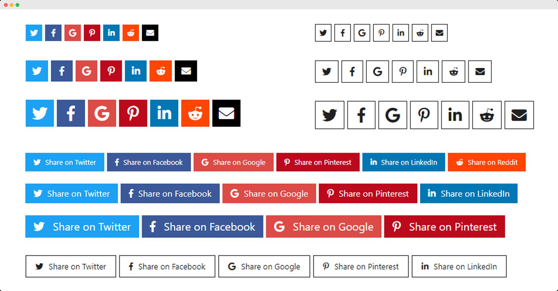 Social Share Block