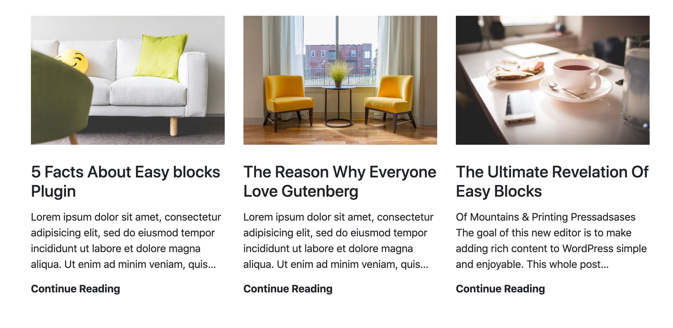 Blog Post Grid View Block
