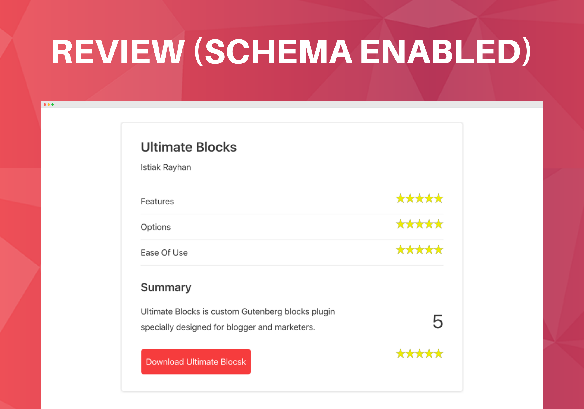 Review Block (Schema Enabled).