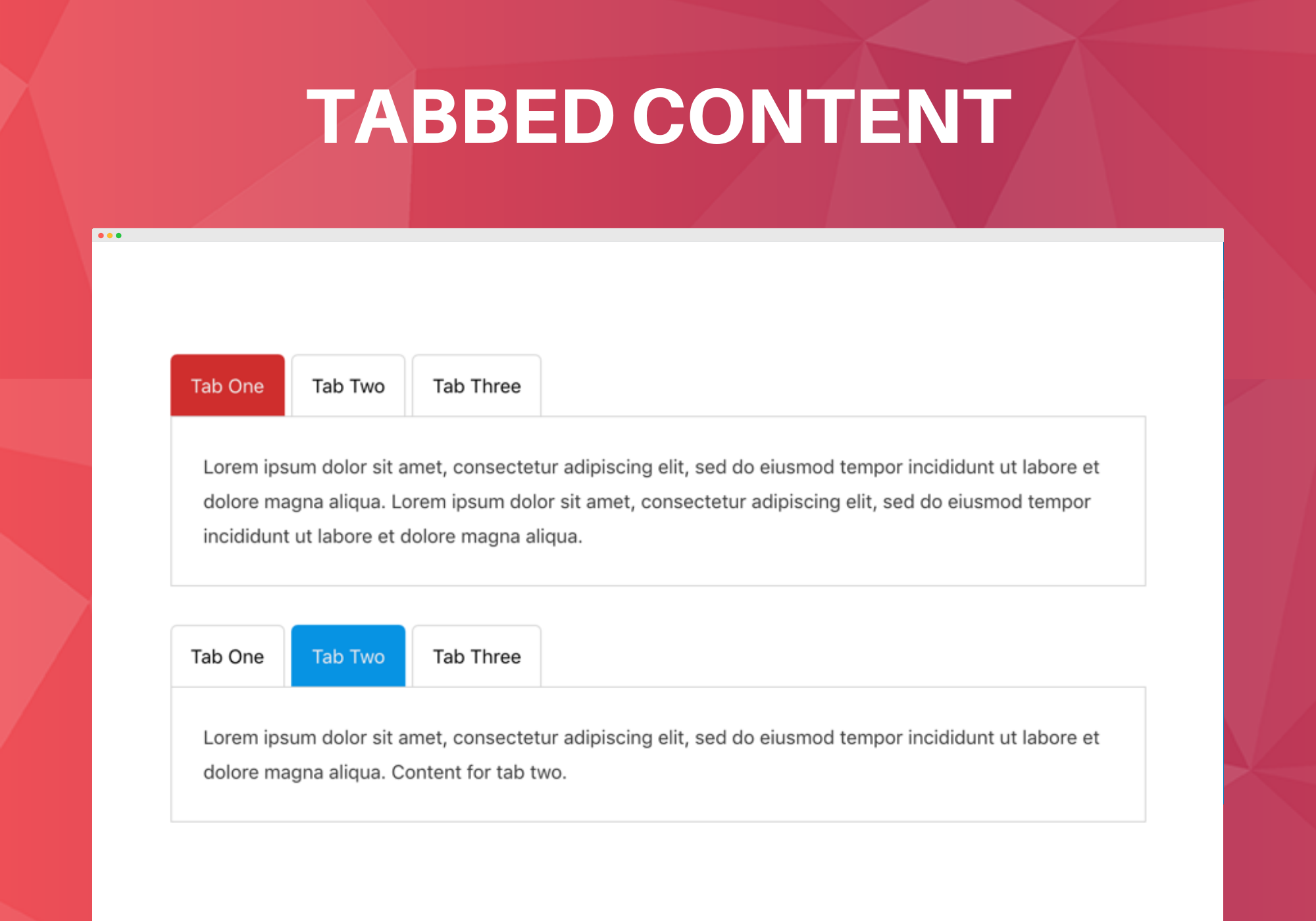 Tabbed Content Block.