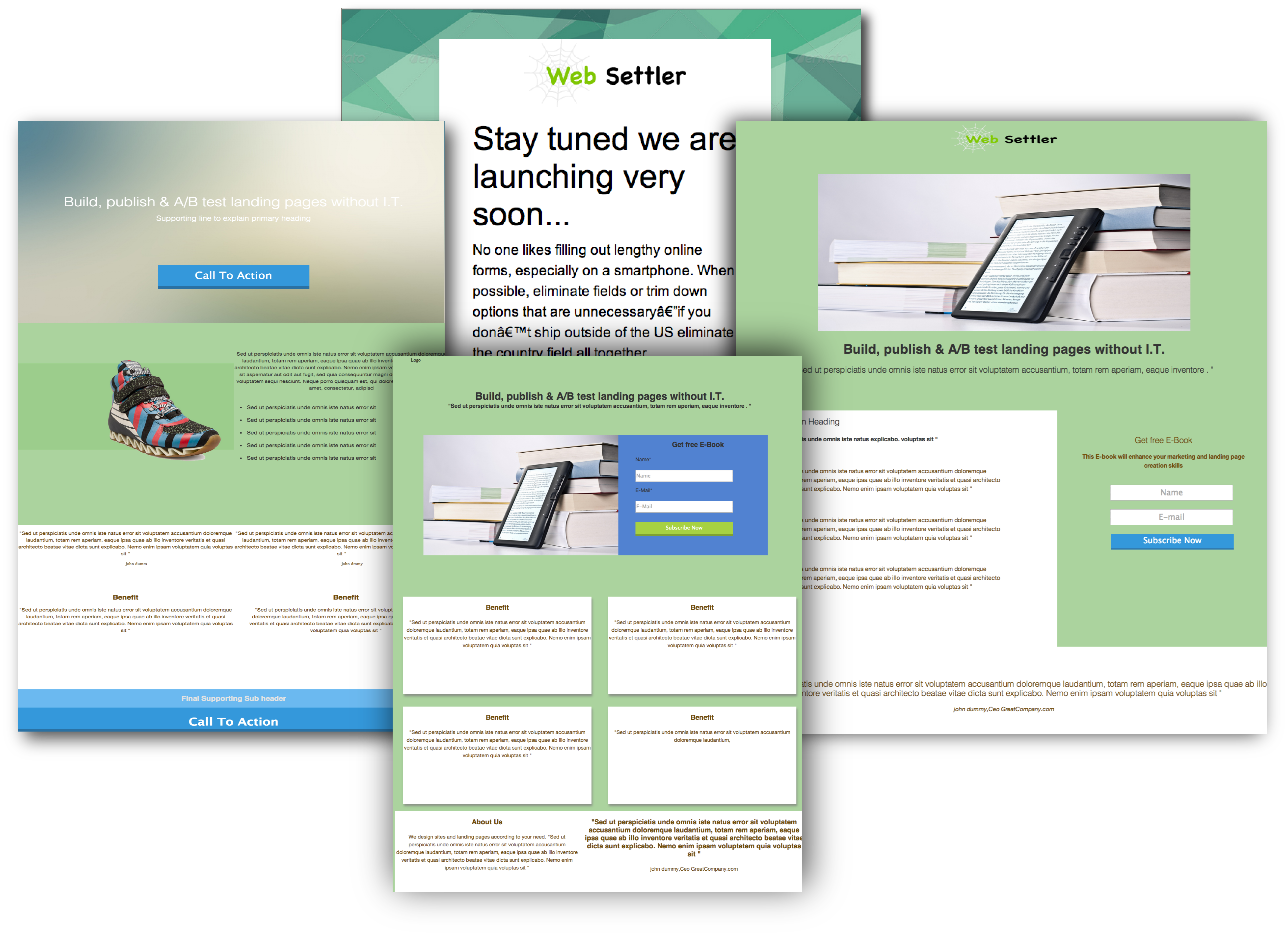 Landing page builder free landing page templates for Free landing page templates for wordpress