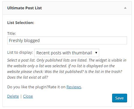 f77ddd81f66 Ultimate Post List – WordPress plugin | WordPress.org