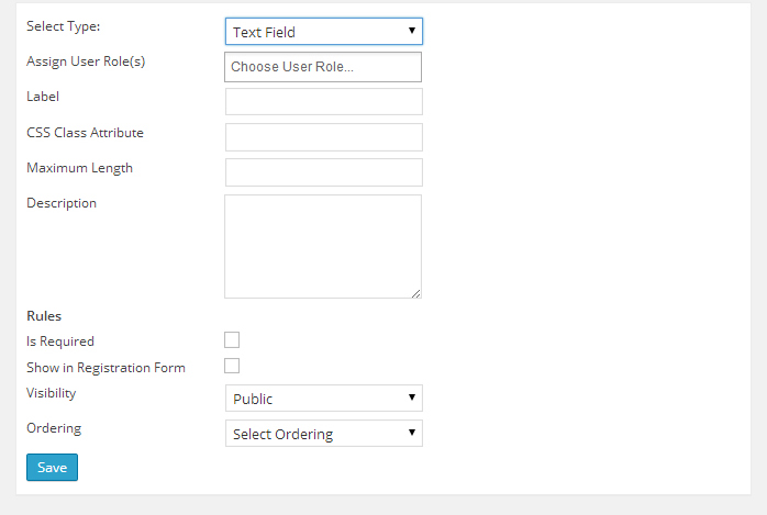 Adding a custom field to user Role.