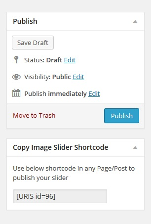 Slider Shortcode Copy Widget Within Plugin Dashboard