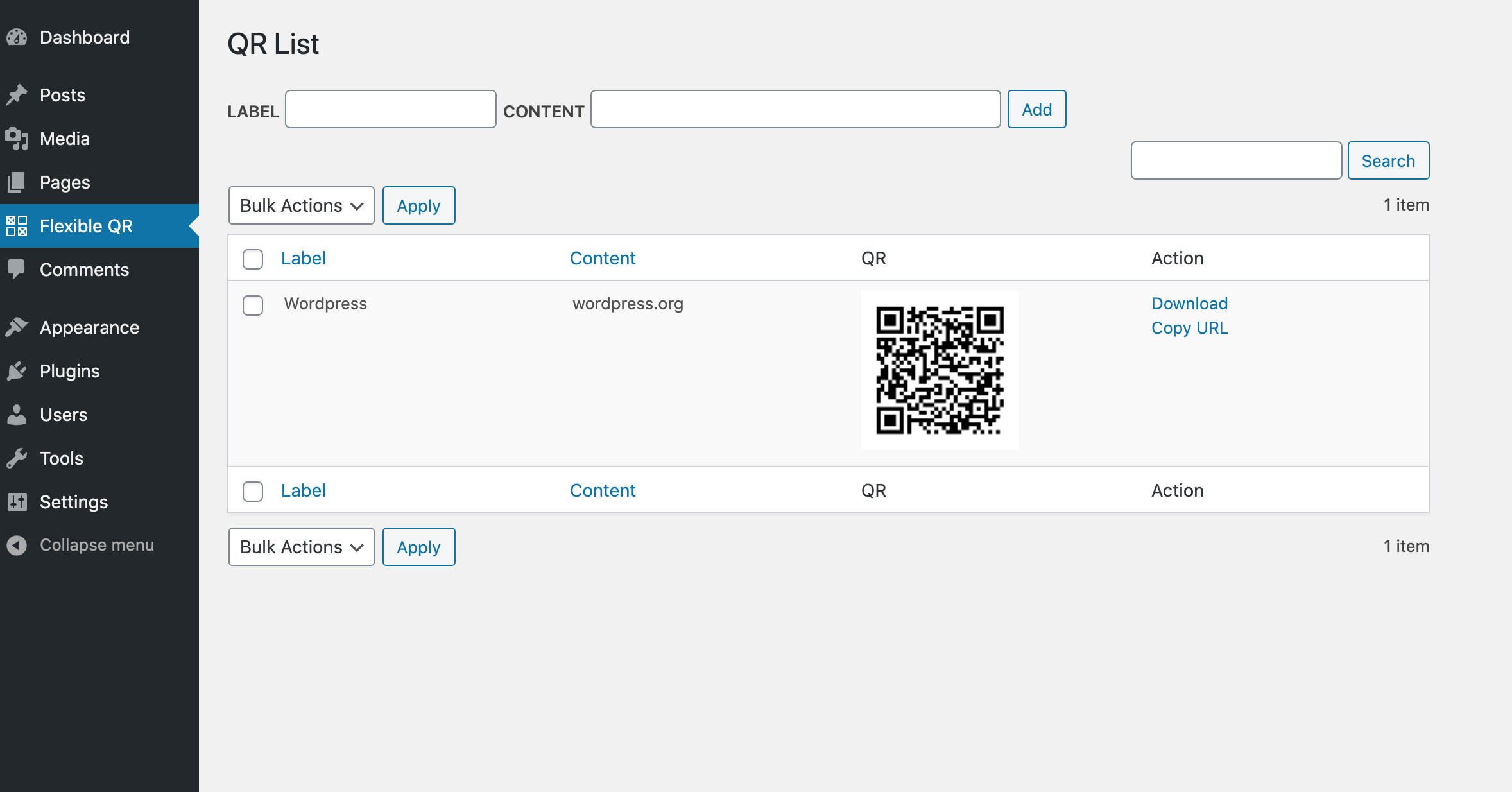 Ultra flexible QR code