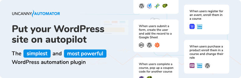 Uncanny Automator – Automate everything with the no-code Automation tool for WordPress
