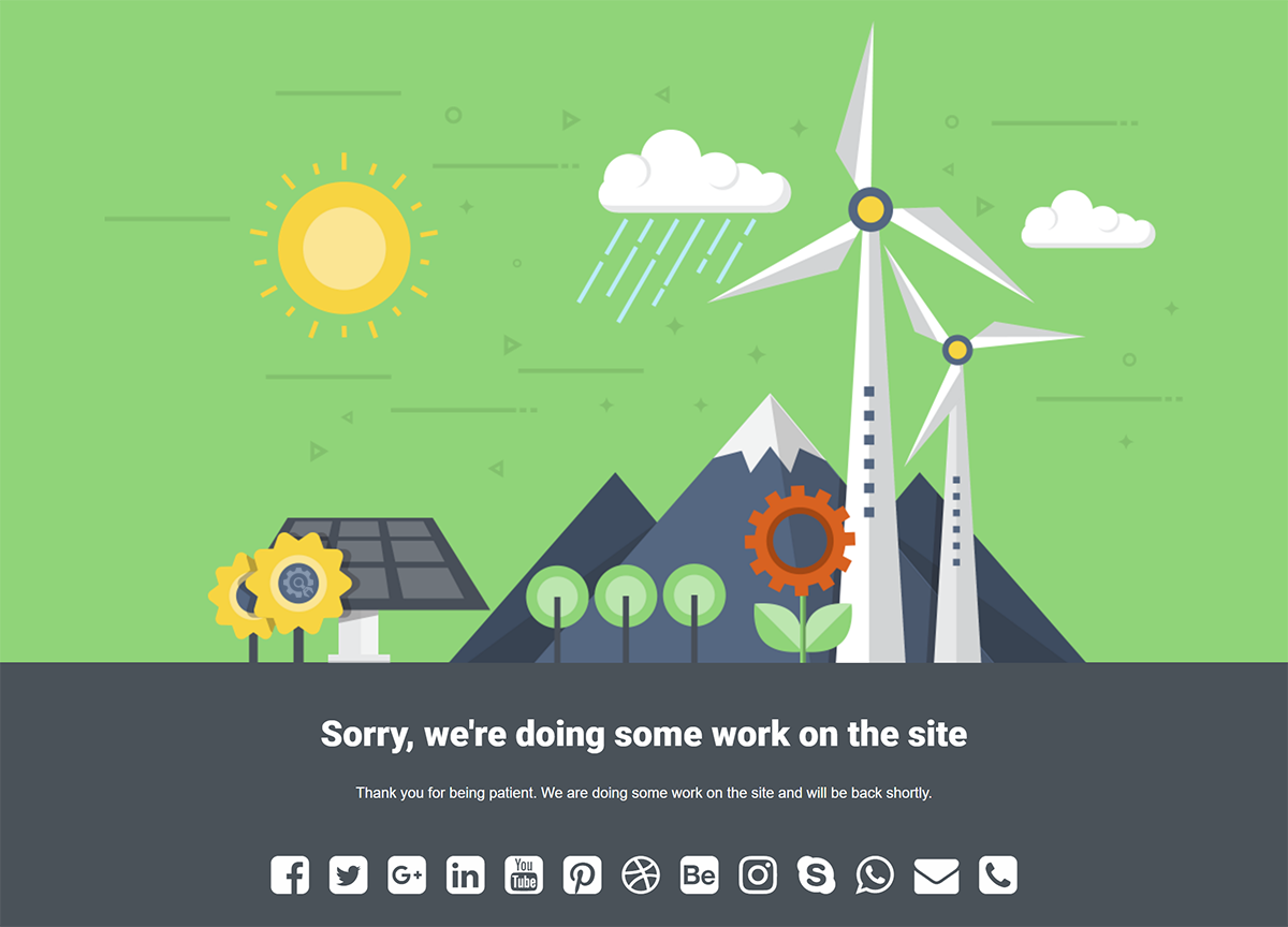 Windmill Theme Sad Site