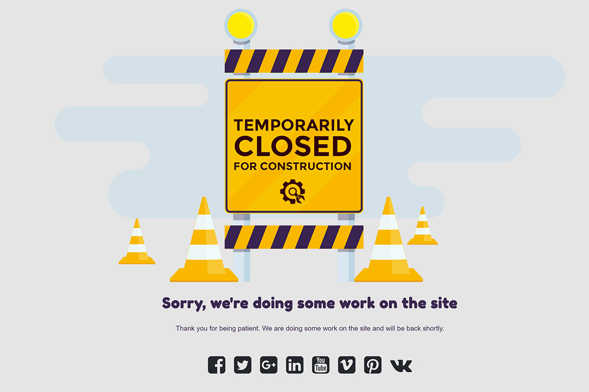 Temporarily Closed theme