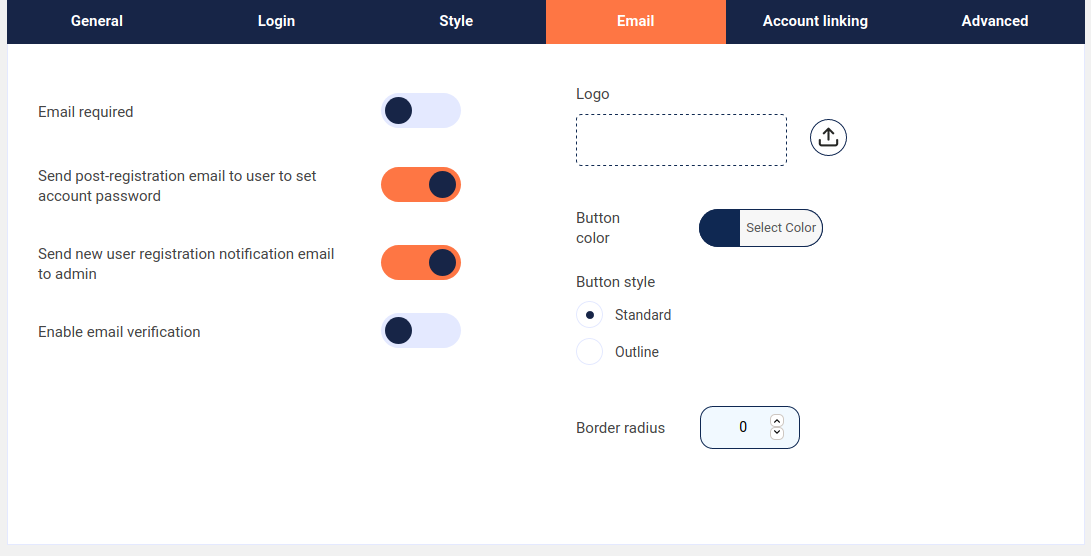 Email options: is email of your new users required ...