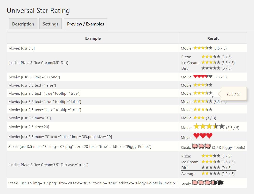 Universal Star Rating – WordPress plugin | WordPress org