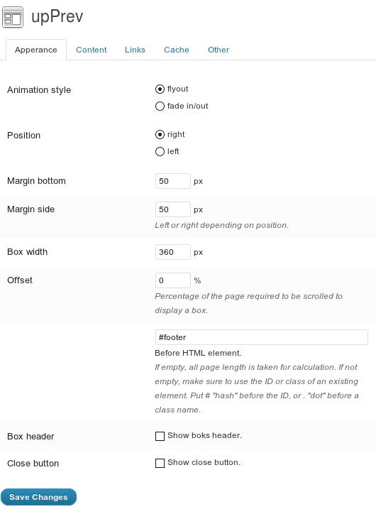 コンテンツ中の設定場所まで来ると『前の記事』へのポップアップリンクを表示するプラグイン「upPrev」