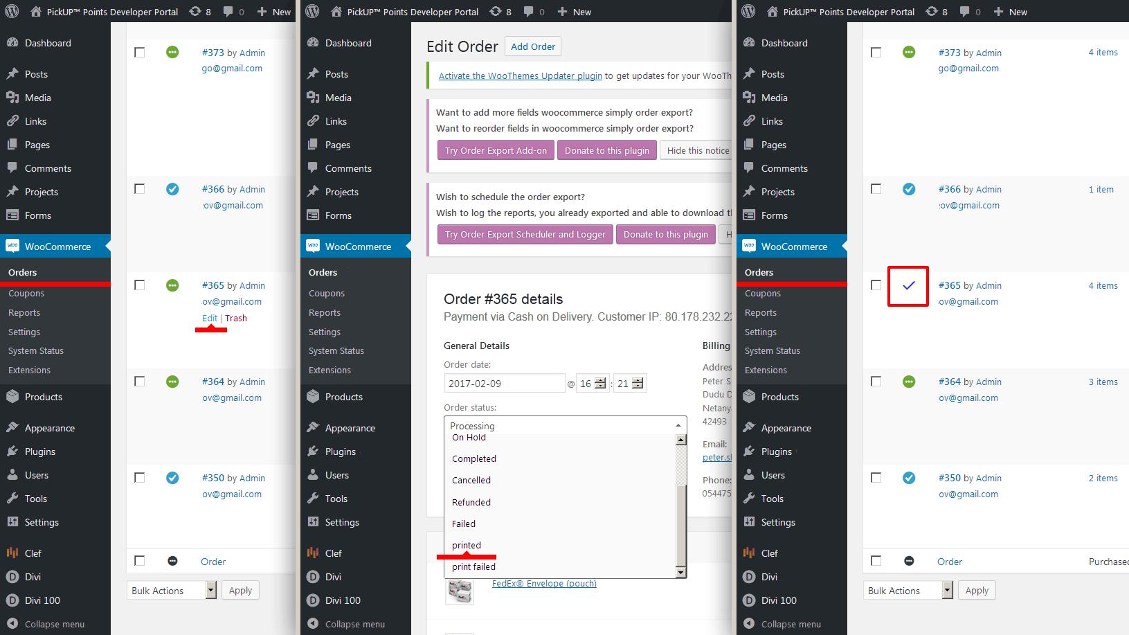 """<p>Set order status """"printed"""".</p>"""