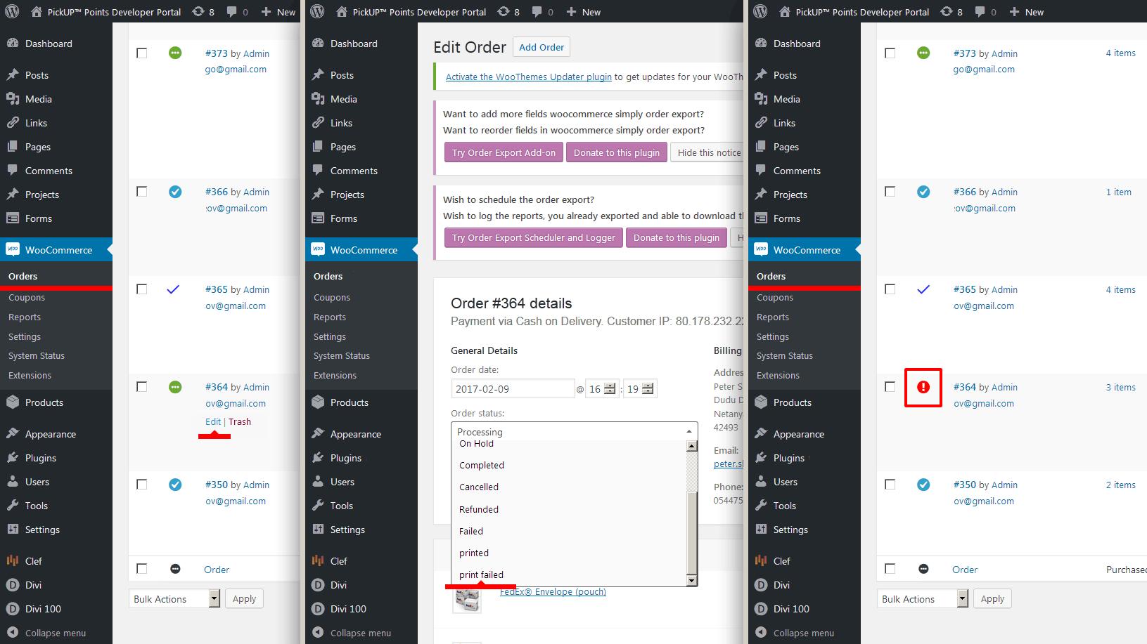 "<p>Set order status ""print failed"".</p>"