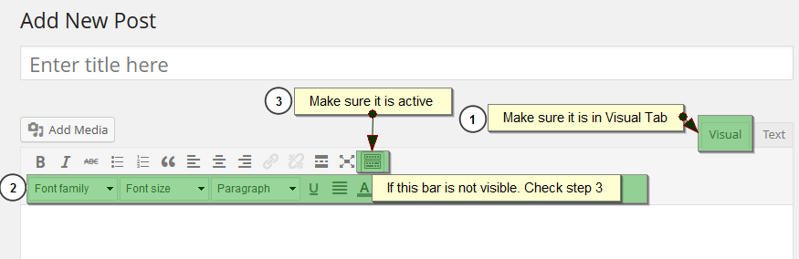 Screenshot #4. Font list not showing in editor.