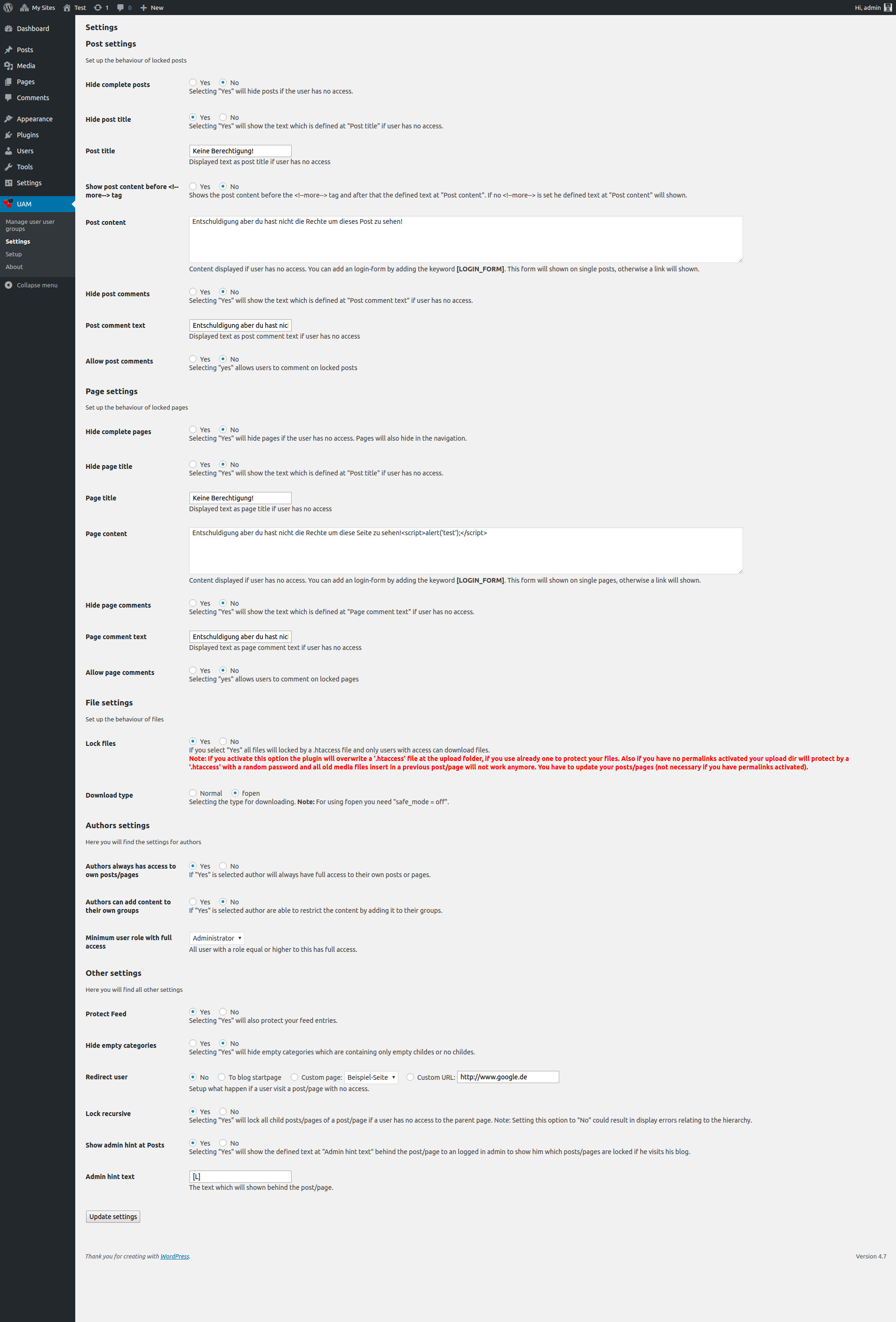 User Access Manager WordPress Plugins