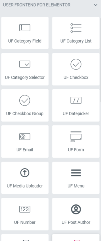 User Frontend for Elementor