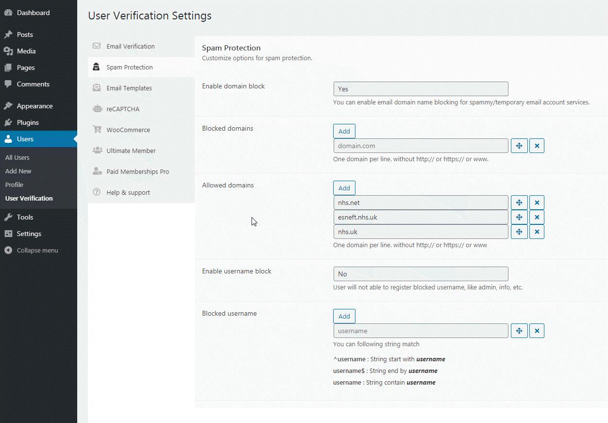 User Verification