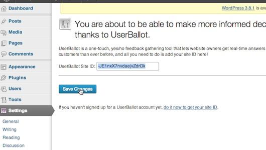 Saving site ID in WordPress