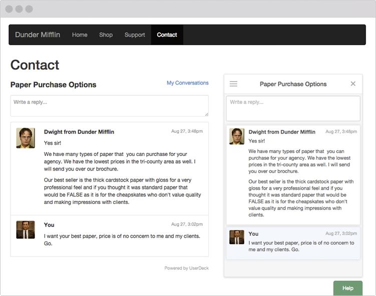 UserDeck Conversations widget