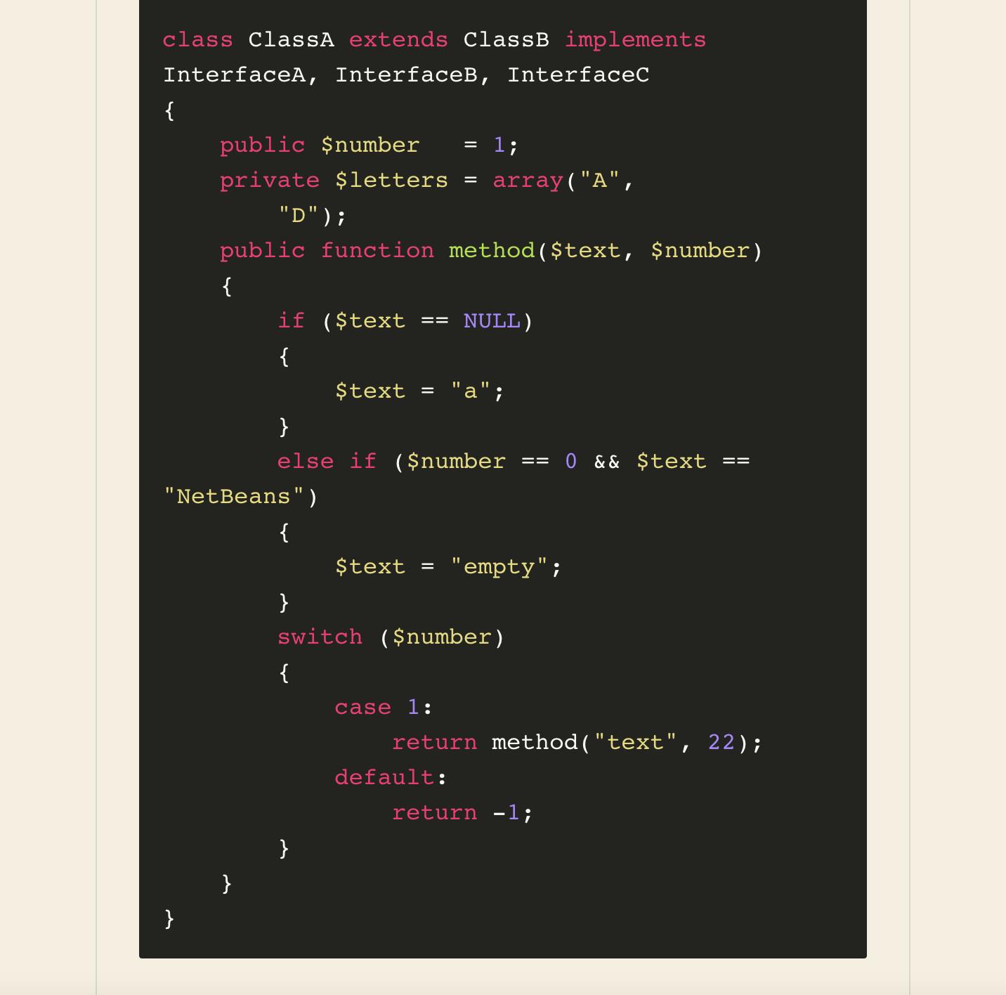 Sublime (Monokai) Theme: PHP Snippet with Line Wrap