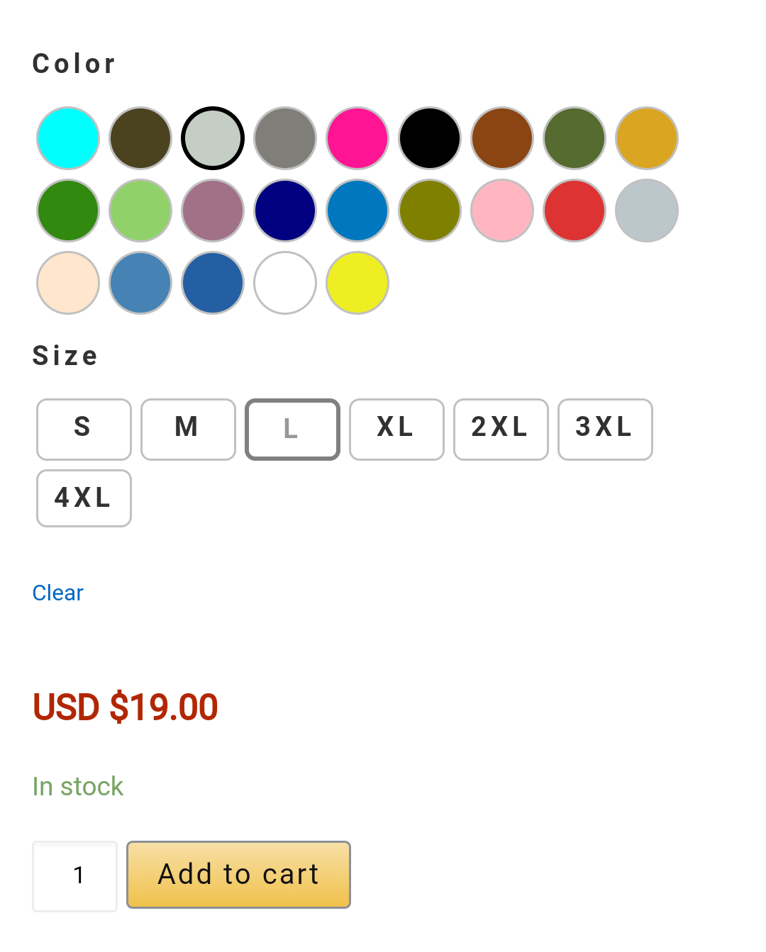 Radio Buttons and Swatches for WooCommerce