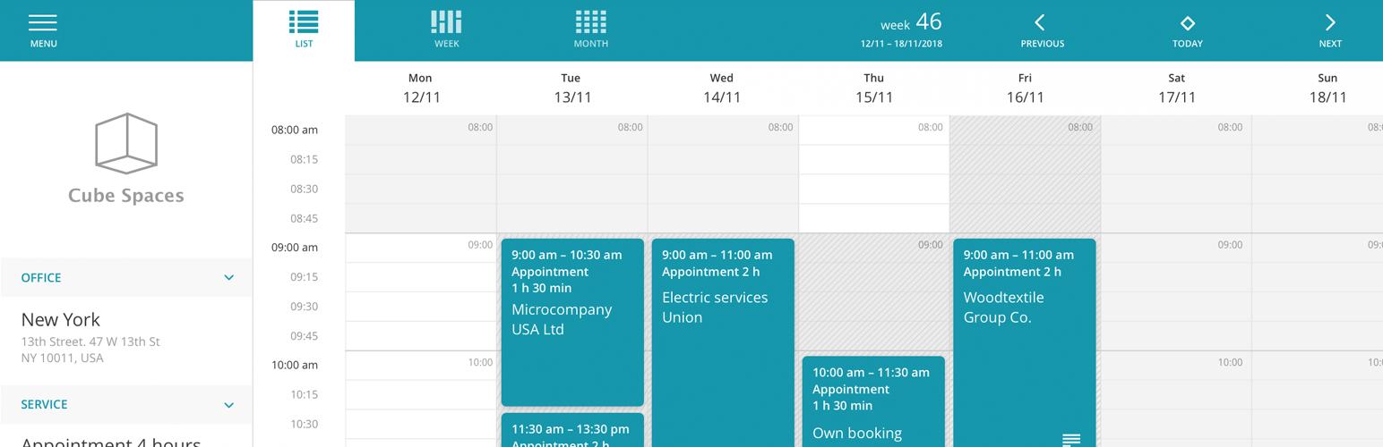 Vello Booking Calendar