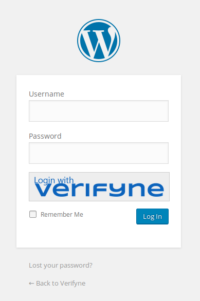 The login mask with activated verifyne plugin