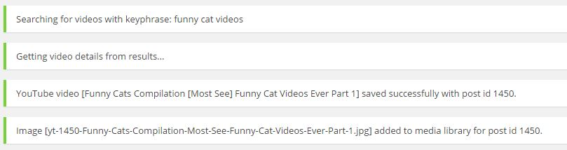 <p>Messages from results of searching for 'funny cat videos'</p>