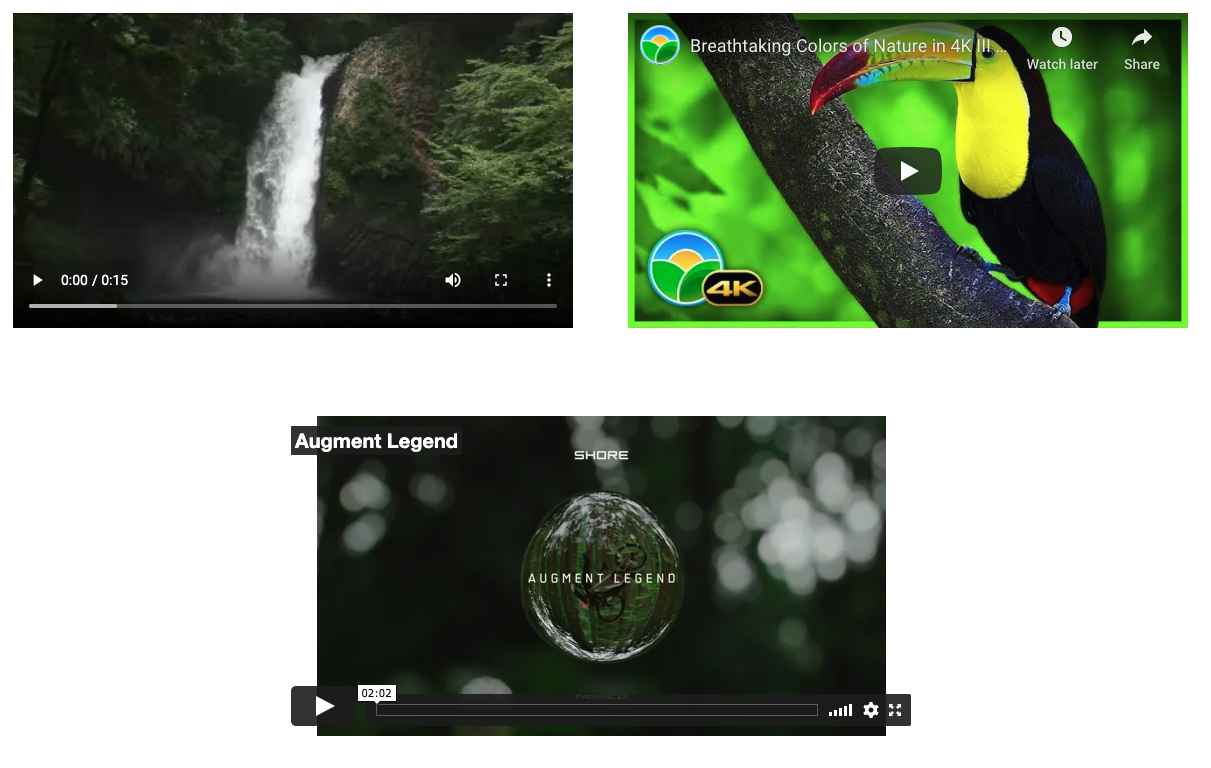 Video Player display on frontend