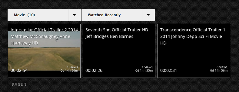 Select category, order by date/views/watch time, move to another page with AJAX