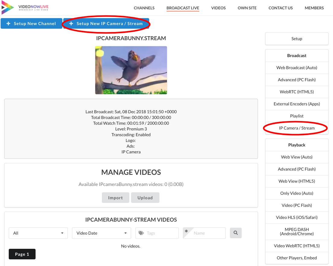 Broadcast Live Video – Live Streaming : HTML5, WebRTC, HLS