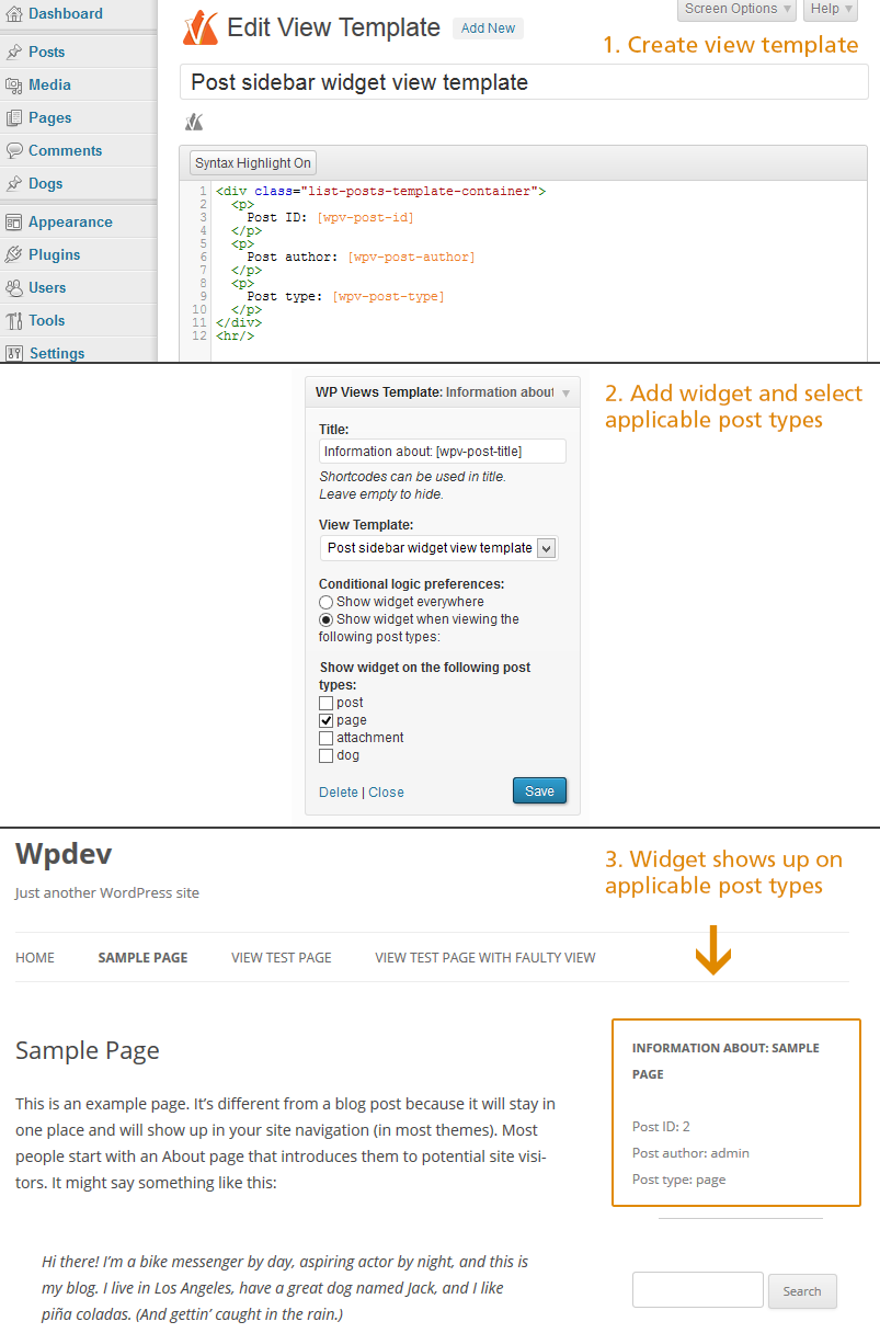 view-template-widget-for-toolset-types-views screenshot 1