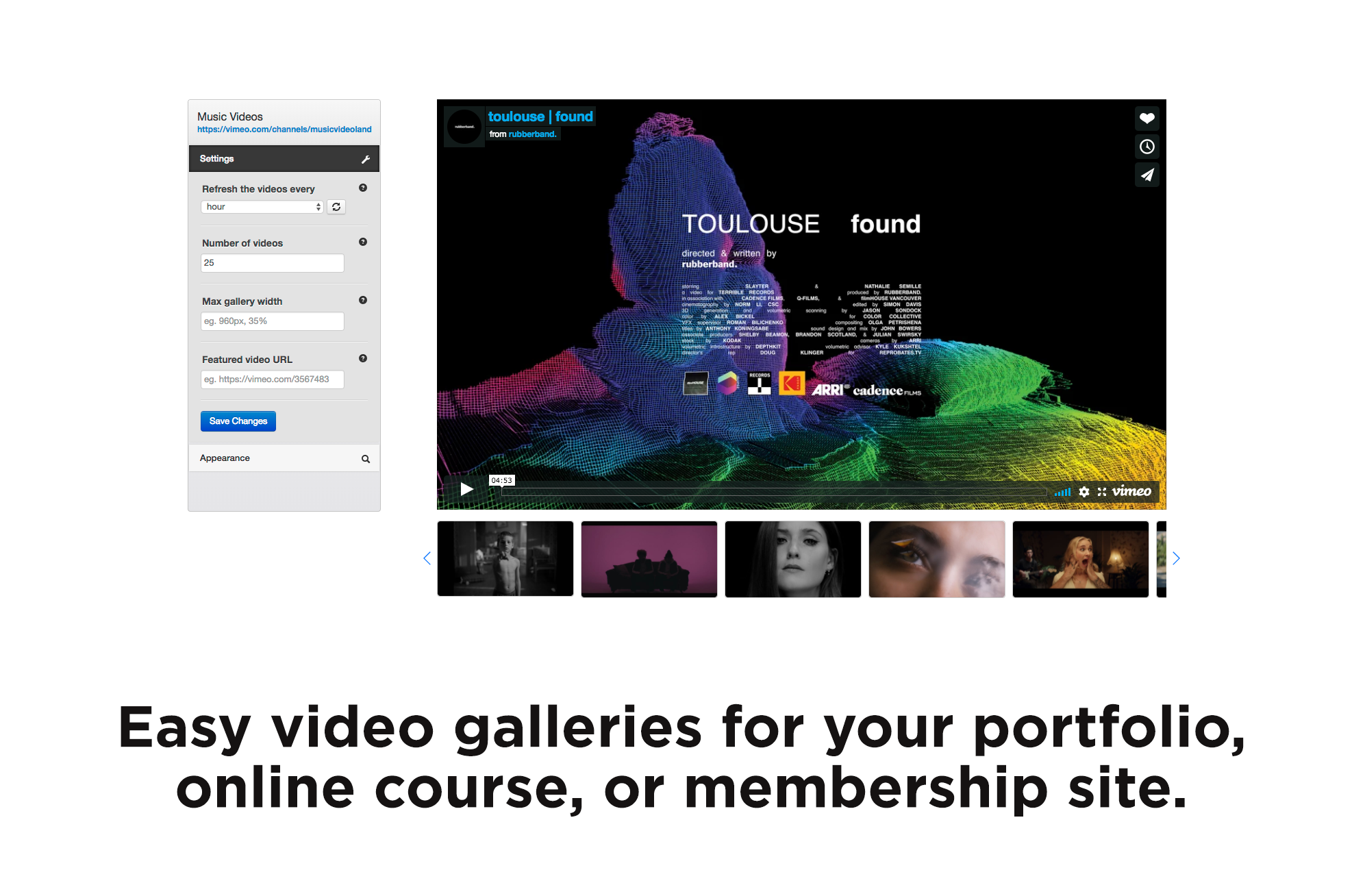 Vimeography: Vimeo Video Gallery WordPress Plugin