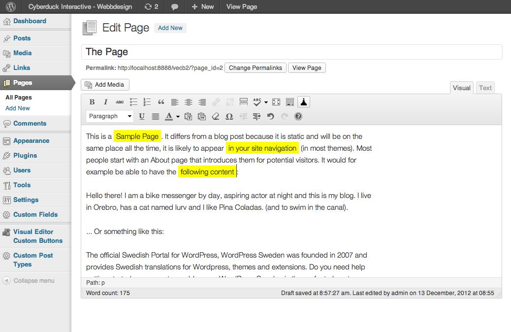 Visual Editor Custom Buttons – WordPress plugin   WordPress org
