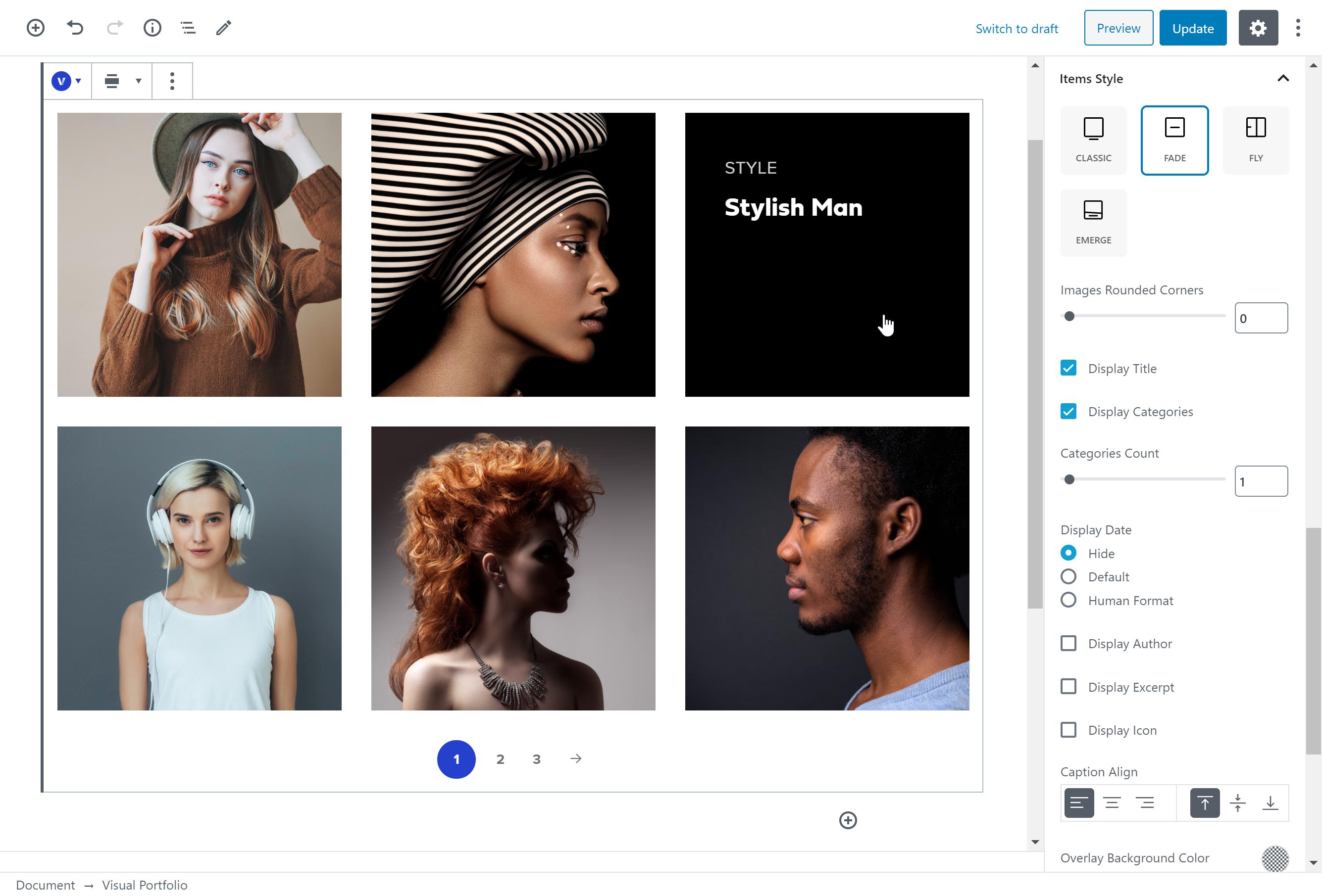 Visual Portfolio builder p.2 (custom images set)