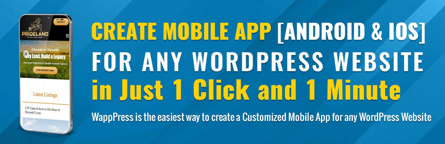 WappPress – Create Android Mobile App for any WordPress site – WordPress  plugin | WordPress.org
