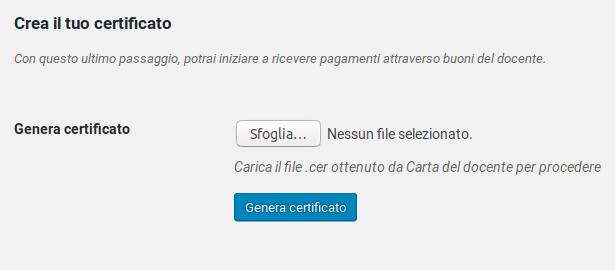 Crea il tuo certificato (Premium)