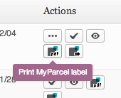 Export or print MyParcel BE label per order