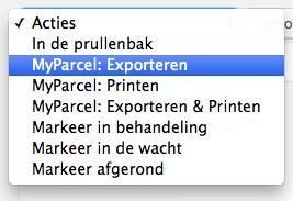 Bulk export or print MyParcel BE labels