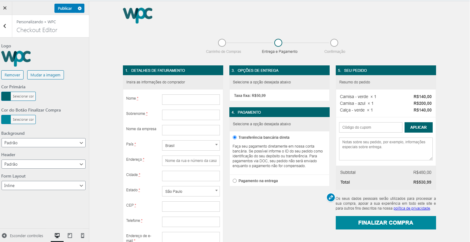 WPC – Checkout Editor for WooCommerce