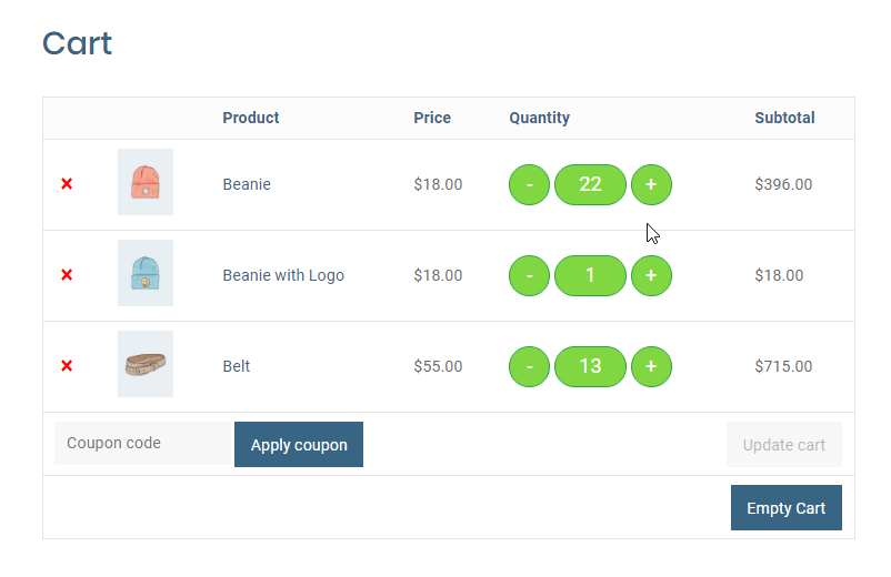 Quantity Plus/Minus Button for WooCommerce