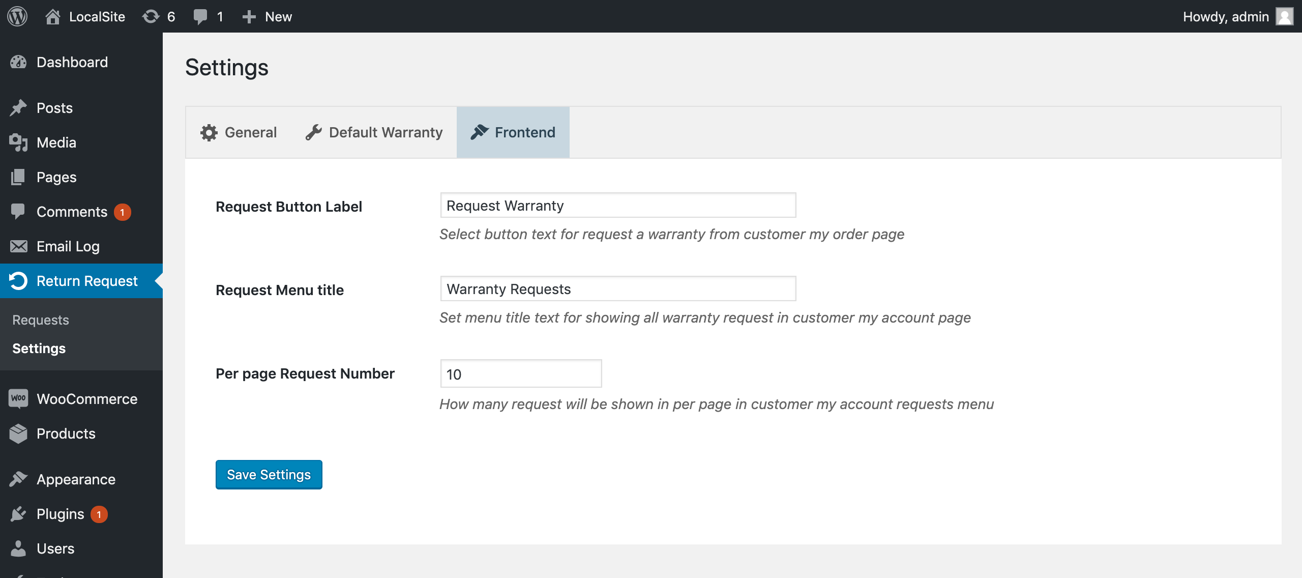 Return and Warranty Management System for WooCommerce