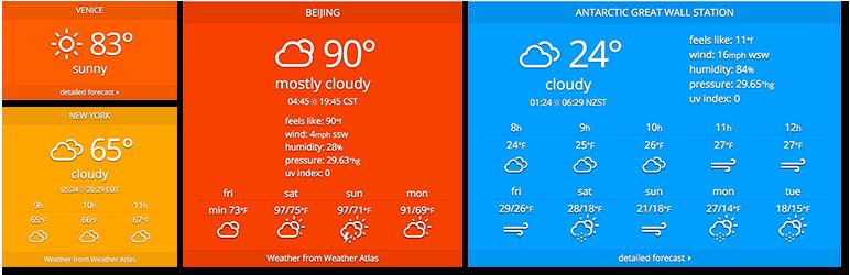 Weather Atlas Widget – WordPress plugin   WordPress org