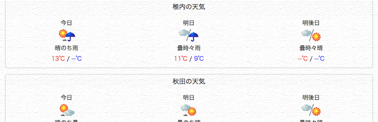 Weather in Japan