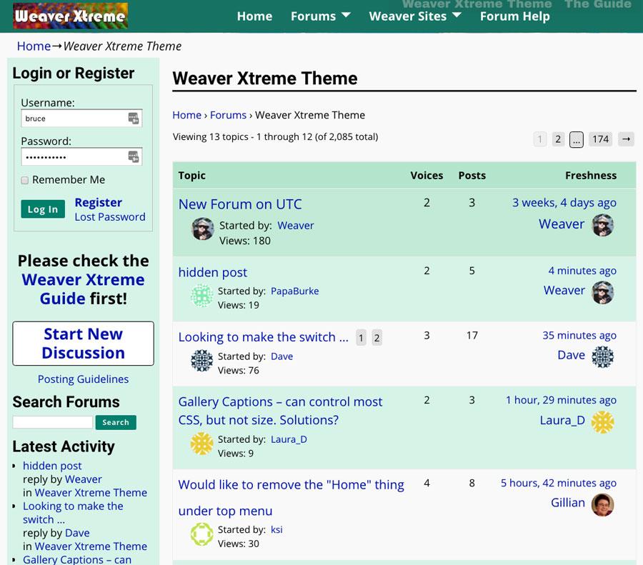 Turnkey bbPress by WeaverTheme